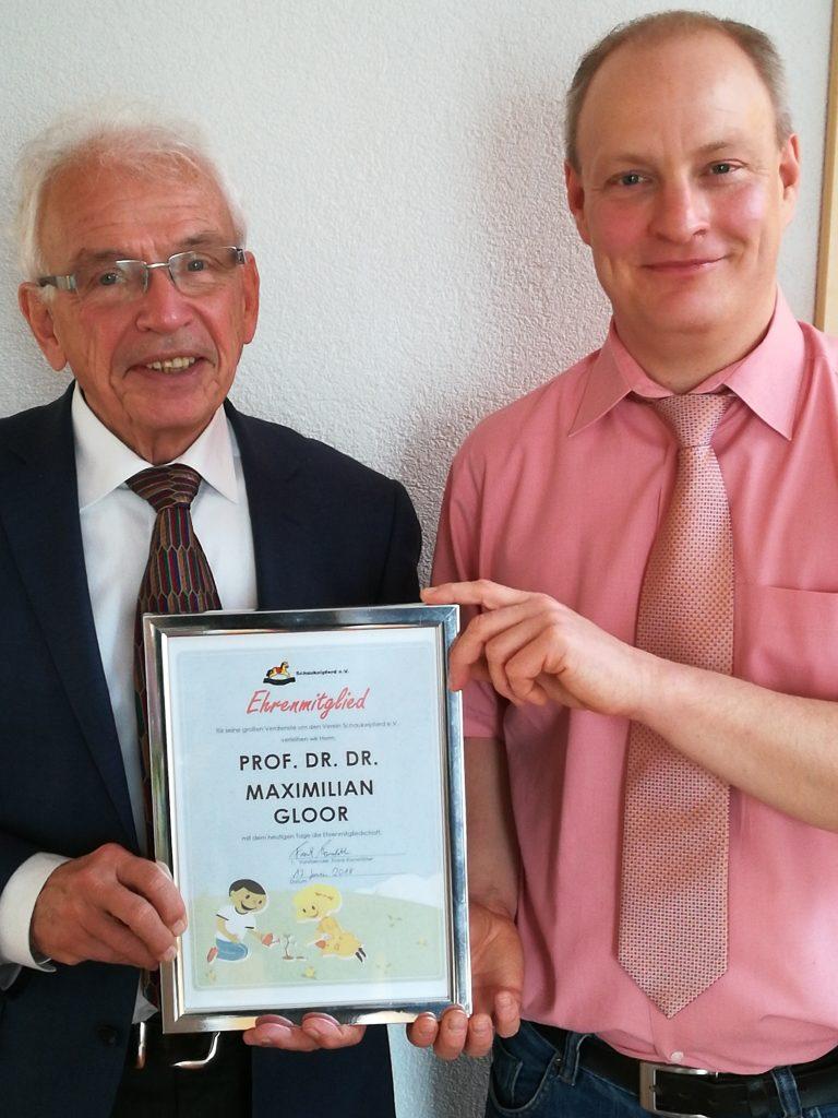 Prof. Dr. Dr. Max Gloor zum Ehrenmitglied ernannt